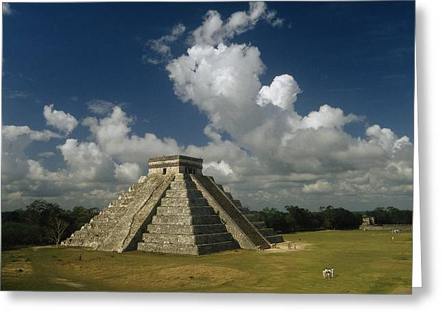 Mayan Character Greeting Cards - El Castillo Or The Temple Of Kukulcan Greeting Card by Martin Gray