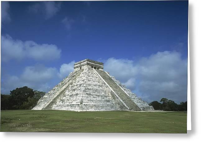 El Castillo Greeting Cards - El Castillo Pyramid Greeting Card by Axiom Photographic