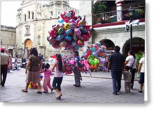 Oaxaca Greeting Cards - El Centro de Oaxaca Greeting Card by Michael Peychich