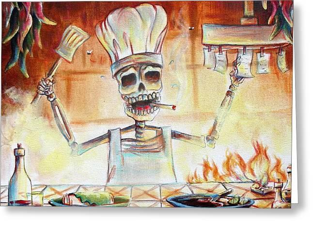El Cocinero Greeting Card by Heather Calderon