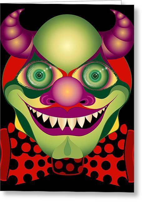 Bowtie Digital Greeting Cards - El Diablo Adorablo Greeting Card by Maryska Torresowa