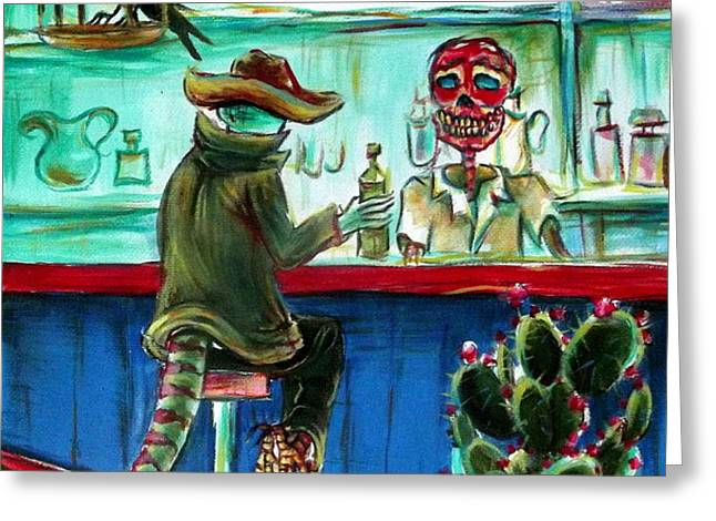El Diablo Greeting Card by Heather Calderon