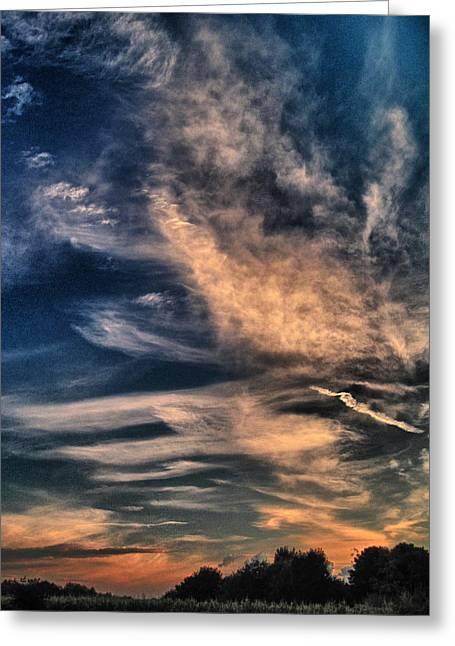 El Greco Sunset Greeting Card by Richard Cummings