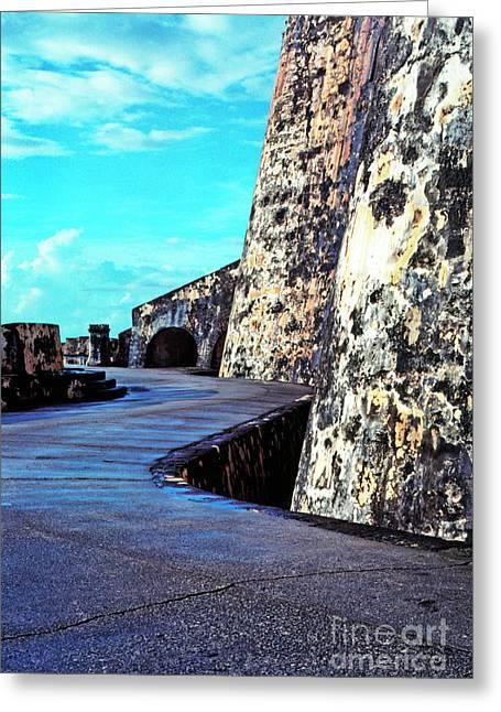 Puerto Rico Greeting Cards - El Morro Fortress Greeting Card by Thomas R Fletcher