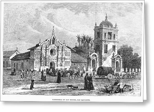 El Salvador Greeting Cards - El Salvador: Cathedral Greeting Card by Granger