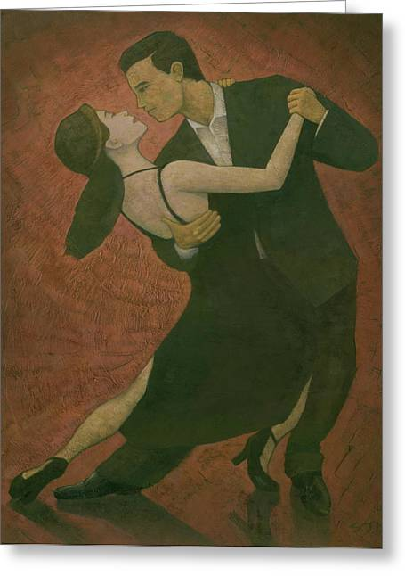 Dancing Greeting Cards - El Tango Greeting Card by Steve Mitchell