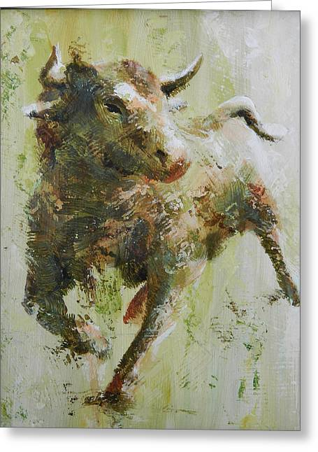 Bull Greeting Cards - El Toro Greeting Card by John Henne