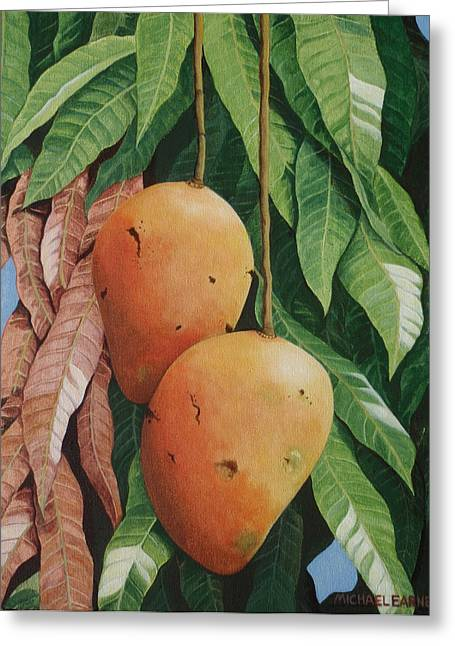 Photorealism Greeting Cards - El Valle Mangos Greeting Card by Michael Earney