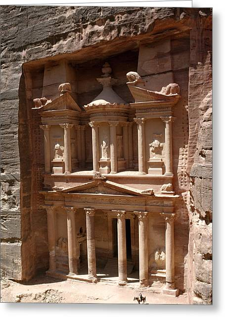 Elaborate Sandstone Temple Or Tomb Greeting Card by Luis Marden