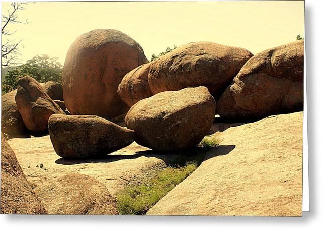 Elaphant Rocks 4 Greeting Card by Marty Koch