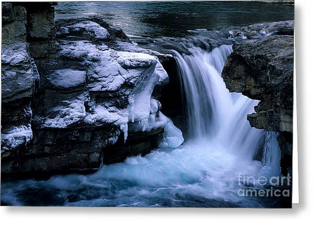 Elbows Greeting Cards - Elbow Falls Greeting Card by Bob Christopher