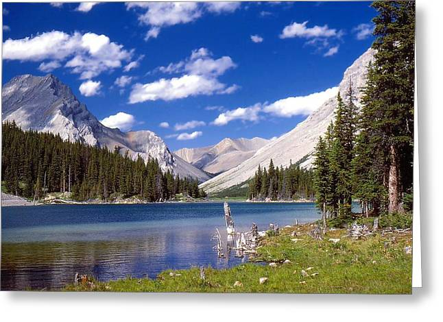 Alberta Greeting Cards - Elbow Lake Greeting Card by Jim Sauchyn