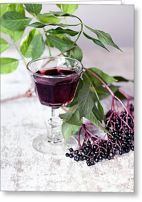 Elders Greeting Cards - Elderberries 04 Greeting Card by Nailia Schwarz