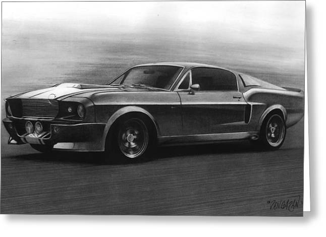 Graphite Art Drawings Greeting Cards - Eleanor  GT 500 Greeting Card by Tim Dangaran
