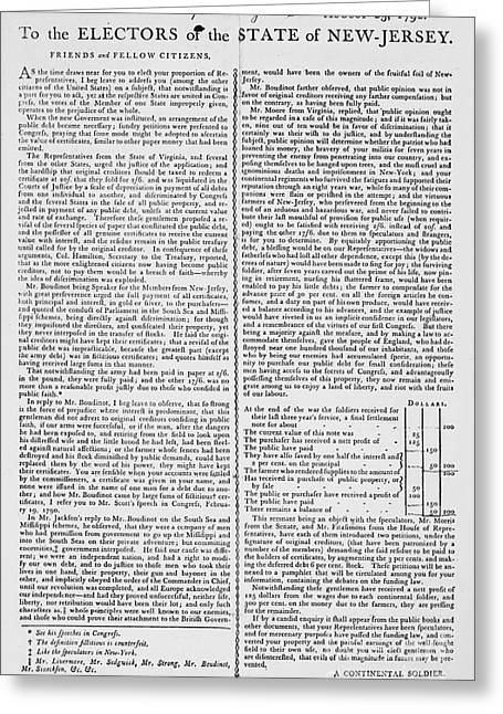 Presidential Elections Greeting Cards - Election Broadside, 1792 Greeting Card by Granger
