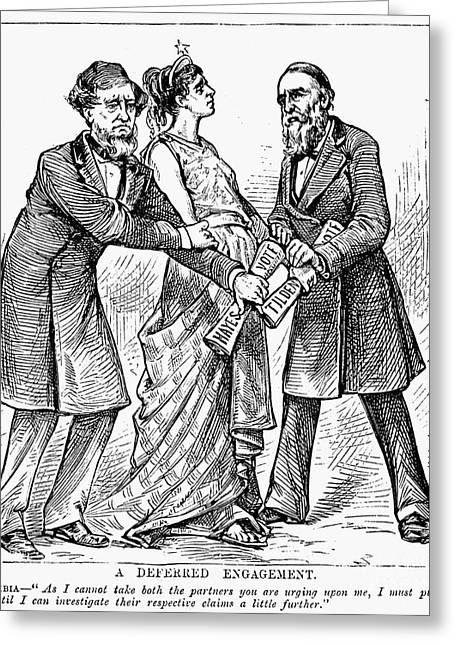 Tilden Greeting Cards - Election Cartoon, 1876 Greeting Card by Granger