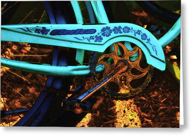 Sprockets Greeting Cards - Electra Bicycle Greeting Card by Lyle  Huisken
