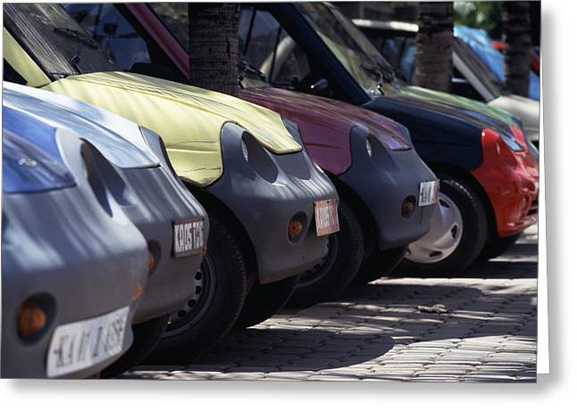 Reva Greeting Cards - Electric Cars Greeting Card by Volker Steger