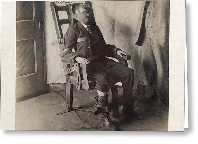 Electric Chair, 1908 Greeting Card by The Branch Librariesnew York Public Library