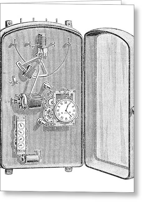 Mechanism Greeting Cards - Electric Counter, 19th Century Greeting Card by