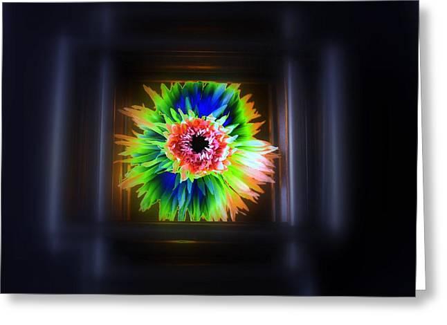 Electric Flower Greeting Card by Marcia Lee Jones