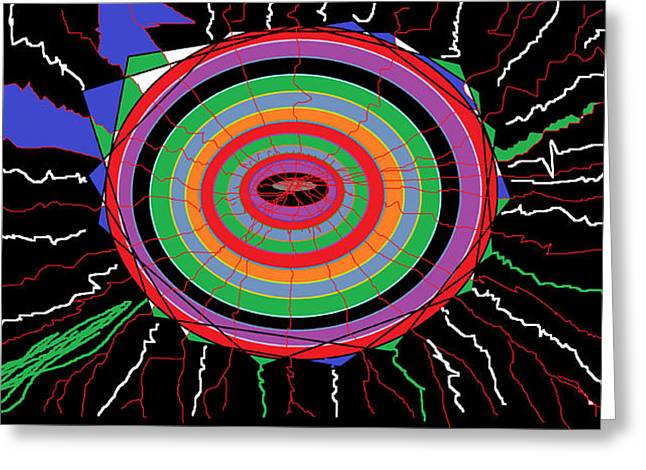 Bipolar Digital Art Greeting Cards - Electric Hole Greeting Card by Sam Persons