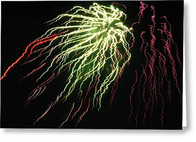 Electric Jellyfish Greeting Card by Rhonda Barrett