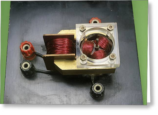 Solenoid Greeting Cards - Electric Motor Coils Greeting Card by Andrew Lambert Photography