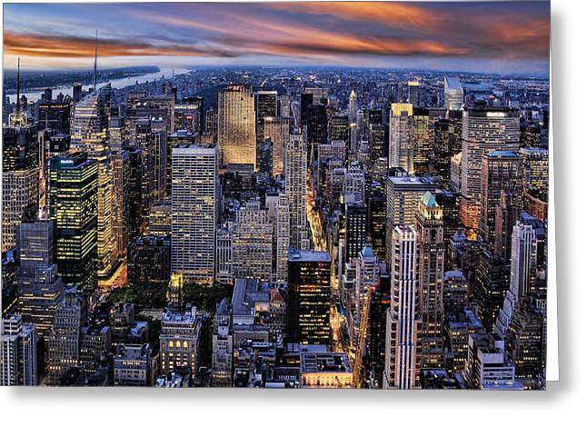 Electric NYC Greeting Card by Kelley King