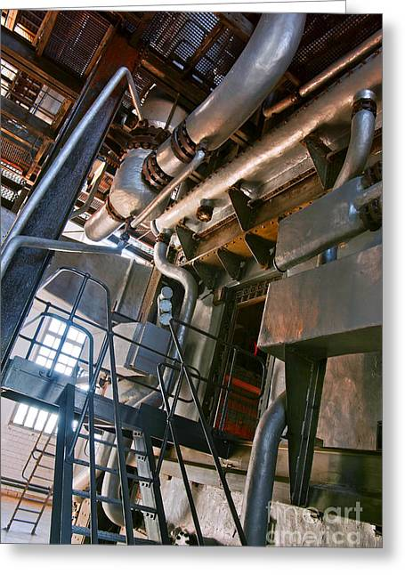 Hot Iron Greeting Cards - Electric Plant Greeting Card by Carlos Caetano