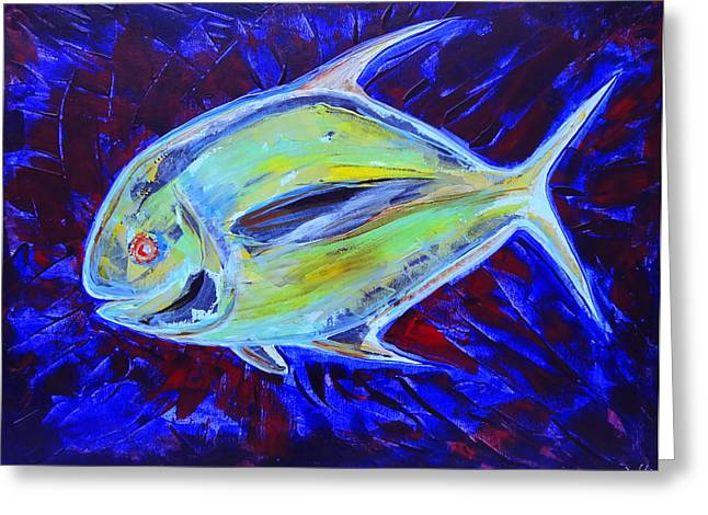 Nature Phots Greeting Cards - Electric Pompano Greeting Card by Jeremy Smith