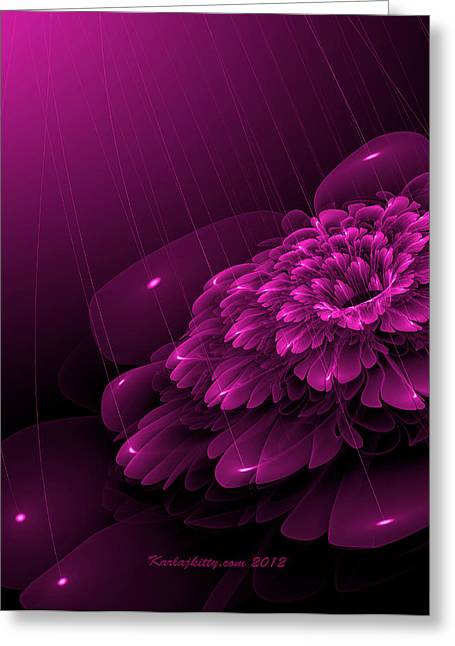 Karlajkitty Digital Greeting Cards - Electric Rain Greeting Card by Karla White