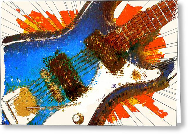 Electric Strings Greeting Card by David G Paul