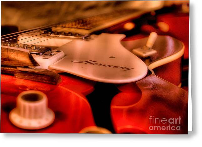 Wood Instruments Greeting Cards - Electric Strings Greeting Card by Jimmy Ostgard