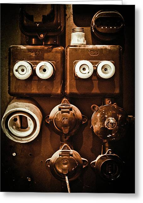 Electrical Greeting Cards - Electrical Panel Greeting Card by Bobby Villapando
