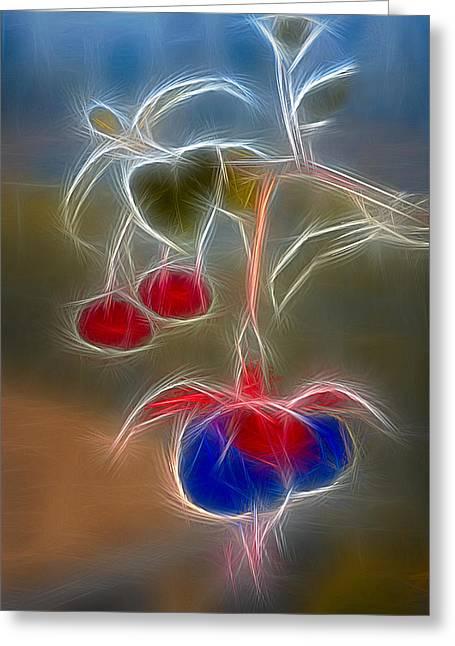Fushia Greeting Cards - Electrifying Fuchsia Greeting Card by Susan Candelario