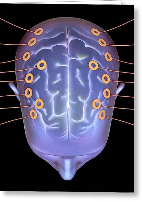 Eeg Greeting Cards - Electroencephalography, Artwork Greeting Card by Pasieka