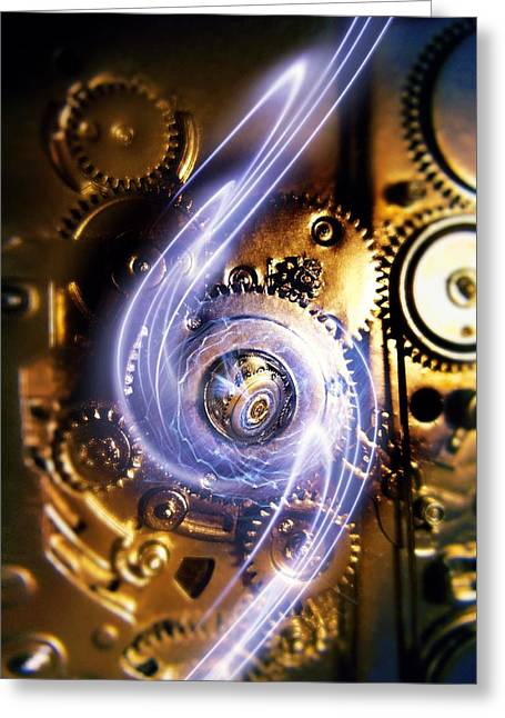 Component Greeting Cards - Electromechanics, Conceptual Image Greeting Card by Richard Kail