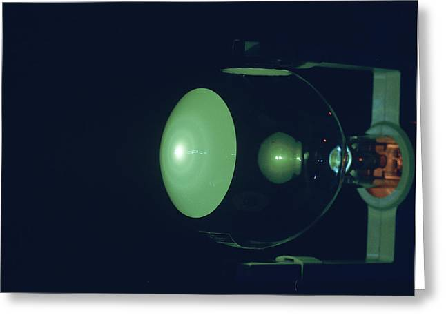 Electron Diffraction Tube Greeting Card by Andrew Lambert Photography