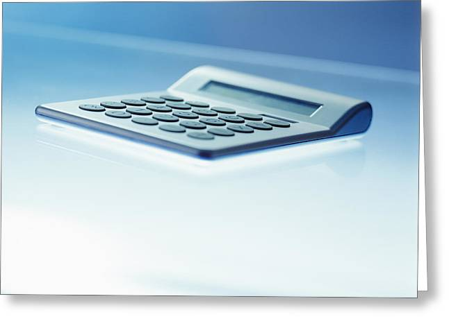 Slimline Greeting Cards - Electronic Calculator Greeting Card by Adam Gault