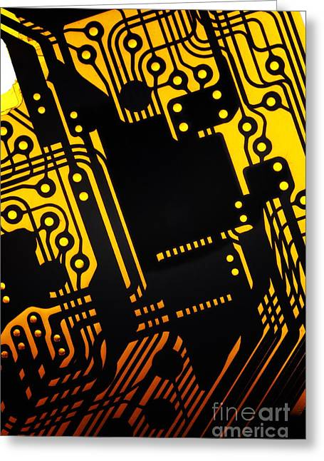 Electronics Industry Greeting Cards - Electronic circuit Greeting Card by Sami Sarkis
