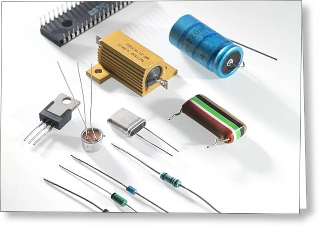 Electronic Components Greeting Card by Tek Image