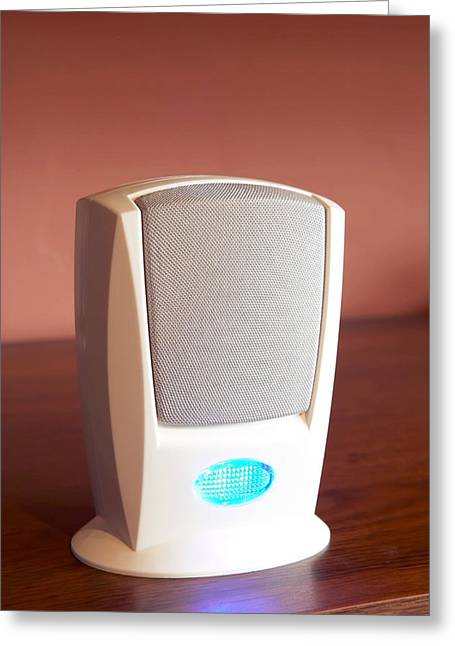 Impairment Greeting Cards - Electronic Doorbell Speaker Greeting Card by Mark Sykes