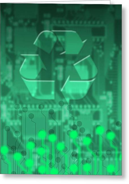 Component Greeting Cards - Electronics Recycling, Artwork Greeting Card by Victor Habbick Visions
