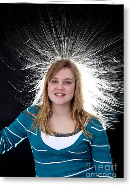 Graff Greeting Cards - Electrostatic Generator, 6 Of 8 Greeting Card by Ted Kinsman