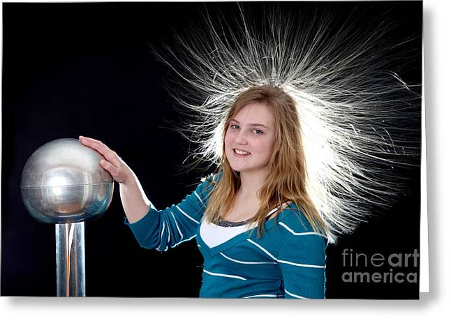 Graff Greeting Cards - Electrostatic Generator, 7 Of 8 Greeting Card by Ted Kinsman