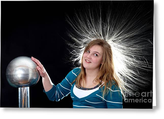 Graff Greeting Cards - Electrostatic Generator, 8 Of 8 Greeting Card by Ted Kinsman