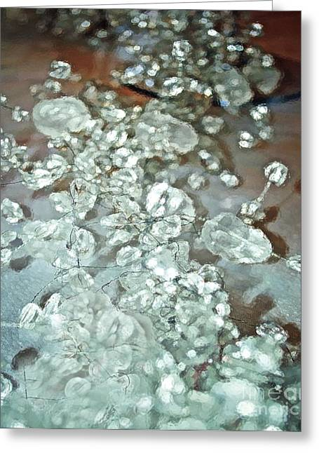 Glass Beads Greeting Cards - Elegance Greeting Card by Gwyn Newcombe