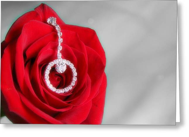 Beauty Mark Greeting Cards - Elegance in Selective Color Greeting Card by Mark J Seefeldt
