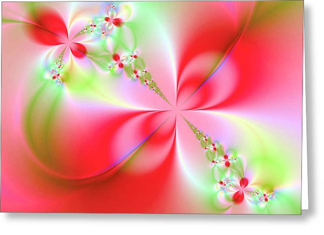 Fractal Greeting Cards - Elegant Beauty Greeting Card by Ester  Rogers